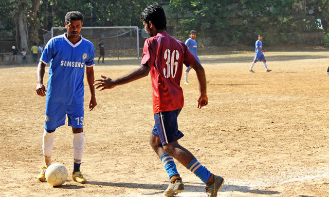 jolly and IIT Pawai's players in action