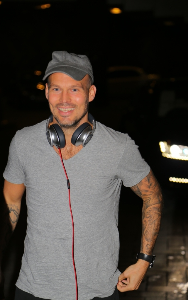 Mumbai City FC's Marquee Player Freddie Ljungberg arrived at Mumbai Airport today.