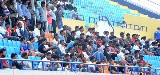 FC Goa fans at Tilak Maidan for the first pre season game