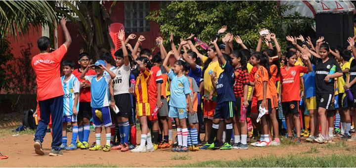 Kids participated in grassroots festival organised by Mumbai City FC..
