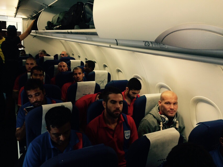 Mumbai CIty FC Marquee Player Freddie Ljungberg along with Johan on the way to Kolkata to play their first match