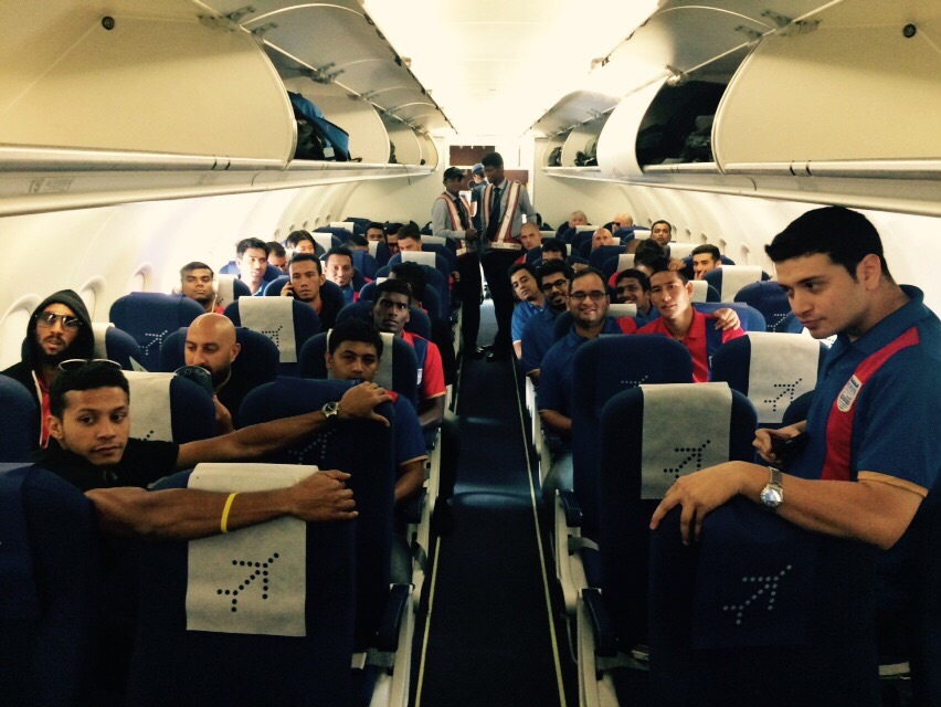Mumbai City FC team fly to Kolkata to play their first game on 12 Oct..