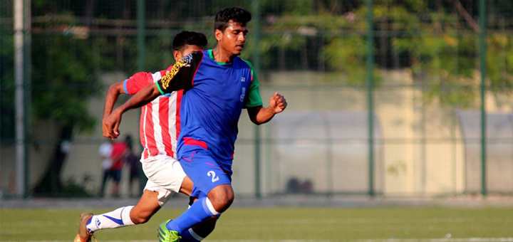 A lone scorer Sandeep upadhya from RCF