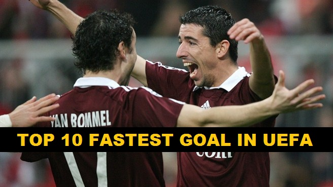 On 7th March, 2007, Dutch striker Roy Makaay created history when he scored in just 10.12 seconds against 10 time UEFA Champions League winner, Real Madrid.