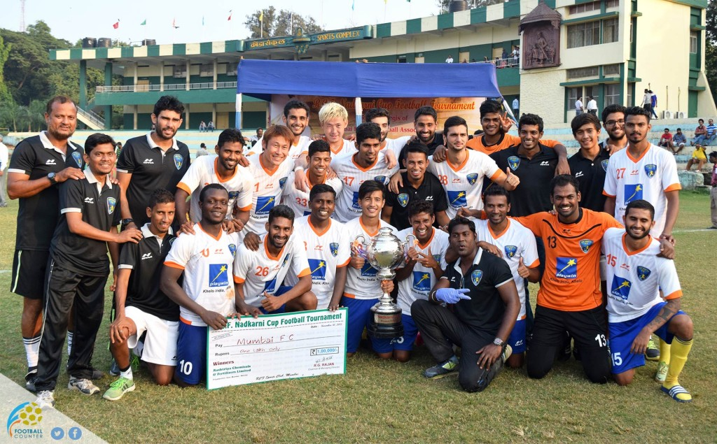 Mumbai Football Club, the winner of the 109th Nadkarni cup held at RCF Ground Chembur.