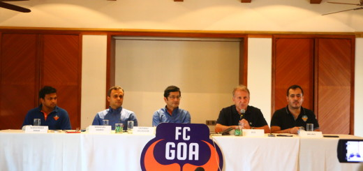 Sukhvinder Singh,FC Goa, CEO,Mr. Shrinivas Dempo ,Chairman and Managing Director, Dempo Group of Companies,Mr. Dattaraj Salgaocar ,Managing Director, V.M.Salgaocar Group of Companies,Zico ,Manager and chief and coach FC Goa and Bruno,Translator