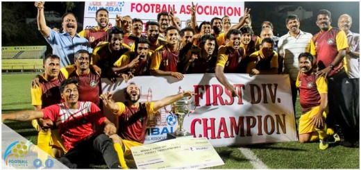 The victorious Reserve Bank of India team make a happy picture after winning their MDFA First Division title on Saturday. Reserve Bank defeated HDFC 1-0 in the final.