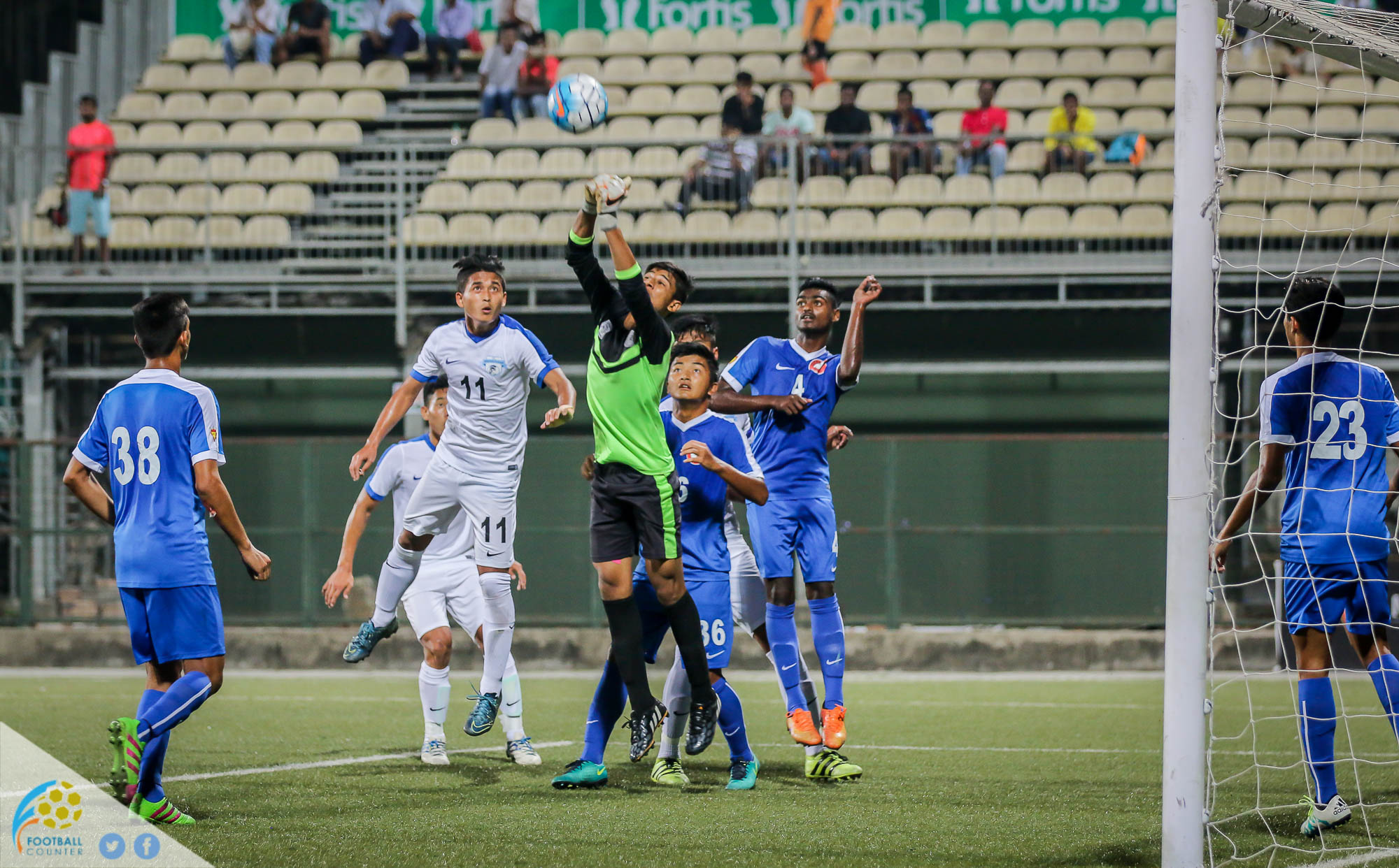 Rohmingthanga in action against Minerva Punjab during the Nike Premier Cup final in 2016