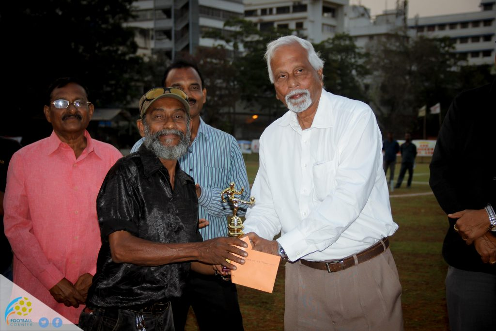 Oldest player - 59-year-old Faisal Shaikh of Colaba Sports League