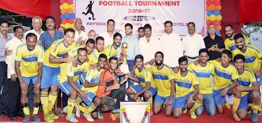 Champions Mogaveera SC proudly pose with the 21st Late Shri Ramanath Payyade Memorial Football Trophy along with Chief Guest Aditya Thackeray, Chairman MDFA and President Yuva Sena, presented the 'Champions Trophy', Dr. P.V. Shetty, President, KSA, Jaya Shetty, Jt. Hon. Secretary, KSA, Executive Committee Members KSA and other dignitaries.