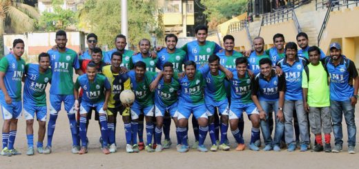 The victorious JMJ (Jesus Mary Joseph) team, which emerged champions of the MDFA Third Division crown, are all smiles after their victory against Maurya FA in the final at the St. Xavier's ground, Parel on Thursday.