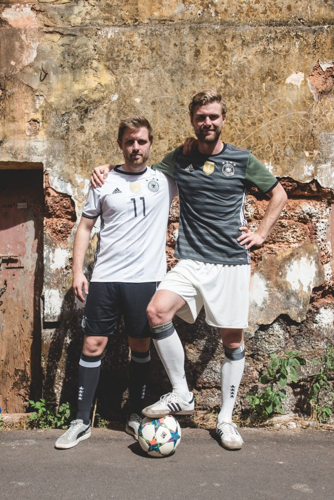 German football freestylers Maximilian Meyer and Daniel Korte put on dazzling show in Goa