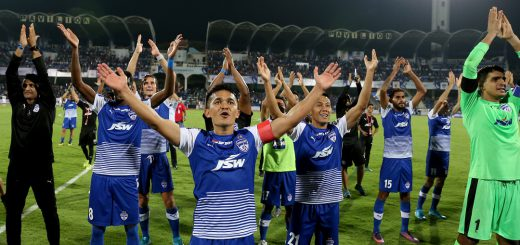 during the first semi final 2nd leg of the Hero Indian Super League between Bengaluru FC and FC Pune City held at the Sree Kanteerava Stadium, Bengaluru, India on the 11th March 2018 Photo by: Faheem Hussain / ISL / SPORTZPICS