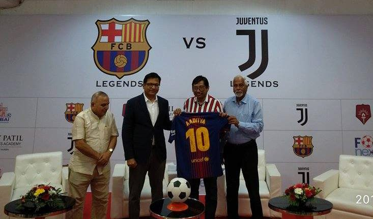 MDFA president Aaditya Thackeray urges Mumbai football fans to gather in numbers for an exhibition Barcelona-Juventus legends match to be held in DY Patil,