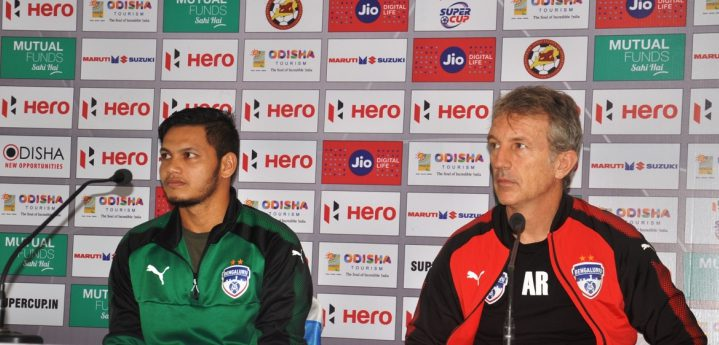 Hero Indian Super League finalists JSW Bengaluru FC are now up for the 'challenge' of the Hero Super Cup 2018 as the Blues are gearing up to face 'Giant-Killers' Gokulam Kerala FC in the Round of 16 at the Kalinga Stadium in Bhubaneswar.